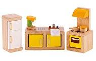 Кухня - Дървени мебели за кукленска къща - играчка