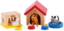 Домашни любимци - Комплект аксесоари за къща за кукли -