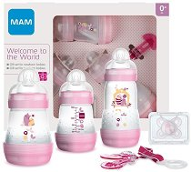Комплект за новородено - Welcome to the World - С шишета, биберони, залъгалка и клипс за залъгалка -