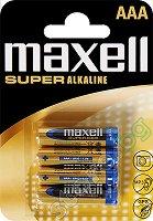Батерия ААА - Супер алкална (LR03) - 4 броя - батерия