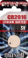 Бутонна батерия CR2016 - Литиева 3V - 1 брой - батерия