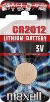 Бутонна батерия CR2012 - Литиева 3V - 1 брой -