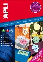 Цветни самозалепващи етикети за принтиране - Комплект от 20 листа