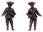 Капитан на кораб - Комплект от две фигури - макет