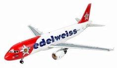 Пътнически самолет - Airbus A320 Edelweiss Air - Сглобяем авиомодел - макет