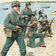 Войници от американската морска пехотна войска - Комплект фигури -