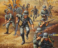 Войници от немската танкова войска - Комплект фигури - макет