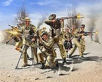 Войници от шотландската пехотна войска - Комплект фигури - макет