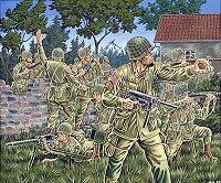 Войници от американската десантна войска - Комплект фигури - макет