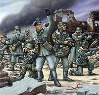 Войници от немската пехотна войска - Комплект фигури - макет
