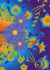 Тетрадка - сини цветя - Формат С5 -
