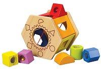 Призма с формички - Дървена играчка - детски аксесоар