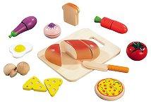 Зеленчуци и хранителни продукти - Дървени фигури -