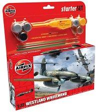 Изтребител - Westland Whirlwind - Сглобяем авиомодел - комплект за начинаещи -
