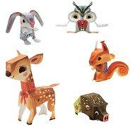 Оригами - Животни - Творчески комплект с оригами - играчка