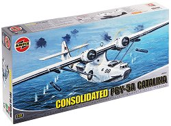 Военен самолет Амфибия - Consolidated PBY-5A Catalina - Сглобяем авиомодел - макет