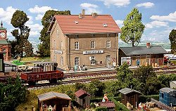 ЖП гара - Sonnheide station - Сглобяем модел -