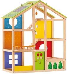 Къща за кукли  - Дървена играчка -