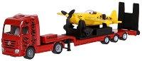 Камион с ремарке и самолет - Mercedes-Benz - играчка