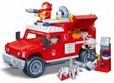 Пожарникарски джип - Детски конструктор - играчка