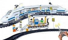 Влак - Детски конструктор с дистанционно управление -