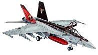 Военен изтребител - F/A-18E Super Hornet - Сглобяем авиомодел - макет