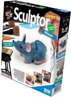 """Създай сам фигурка от глина - Мишка - Творчески комплект от серията """"Sculptor"""" - творчески комплект"""