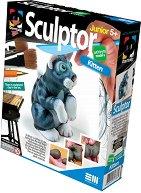 """Създай сам фигурка от глина - Коте - Творчески комплект от серията """"Sculptor"""" - творчески комплект"""