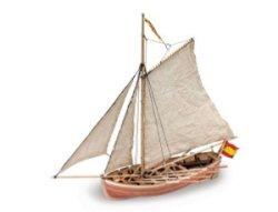"""Спасителна лодка от """"San Juan Nepomuceno"""" - Сглобяем модел от дърво -"""