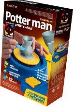 """Създай сам с грънчарско колело - Сервиз за чай - Творчески комплект с глина от серията """"Potter man"""" - играчка"""