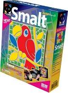 """Създай сам мозайка от шмалта - Папагал - Творчески комплект от серията """"Smalt"""" - творчески комплект"""