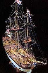 Фрегата - H.M.S. Bounty - Сглобяем модел от дърво -