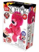 """Направи сам плюшена играчка - Розов лъв - Творчески комплект за шиене от серия """"Класик"""" -"""
