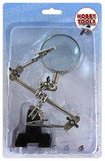 Лупа с щипки - Инструмент за сглобяване на модели и макети - макет