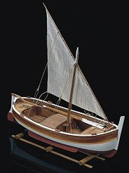 Рибарска лодка - Gozzo Mediterraneo a Vela - Сглобяем модел от дърво -