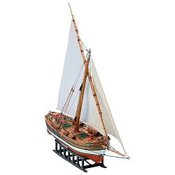Ветроходна лодка за превоз на товари - Bregante Leudo Mediterraneo - Сглобяем модел от дърво - макет