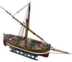 Лодка за превоз на товари - IL Leudo - Сглобяем модел от дърво - макет