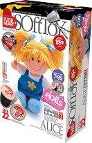 """Направи сама парцалена кукла - Алиса - Творчески комплект от серията """"Soft Toy  Dolls"""" - творчески комплект"""