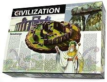 Направи сам макет-моливник - Стоунхендж - Творчески комплект от серията Цивилизации - играчка