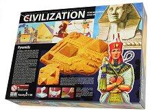 Направи сам макет-моливник - Пирамиди - Творчески комплект от серията Цивилизации -
