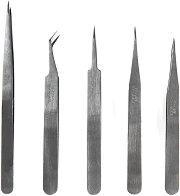 Комплект фини пинсети - Инструменти за сглобяване на модели и макети -