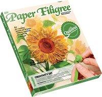 """Създай сам квилинг картина - Слънчоглед - Творчески комплект от серията """"Paper Filigree"""" -"""