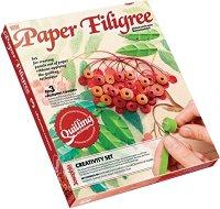 """Създай сам квилинг картина - Есенна офика - Творчески комплект от серията """"Paper Filigree"""" -"""