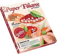 """Създай сам квилинг картина - Гъба мухоморка - Творчески комплект от серията """"Paper Filigree"""" - играчка"""