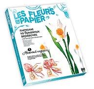 Създай сам хартиени цветя - Нежен нарцис - Творчески комплект от серията Цветя от хартия - творчески комплект