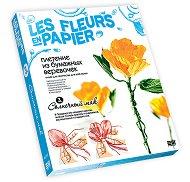 Създай сам хартиени цветя - Слънчев мак - Творчески комплект от серията Цветя от хартия - творчески комплект