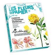 Създай сам хартиени цветя - Кралска роза - Творчески комплект от серията Цветя от хартия -