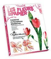 Създай сам хартиени цветя - Пролетно лале - Творчески комплект от серията Цветя от хартия -