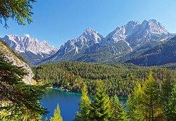 Езеро в Алпите - пъзел