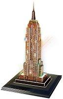 Емпайър Стейт Билдинг - Светещ 3D пъзел - пъзел